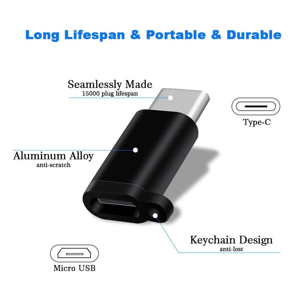 Ascromy Micro USB naar Type C Adapter Voor Xiaomi Huawei Mate 20 X Pro P20 Lite Samsung S9 Plus USB type C Adaptador Kabel Lader