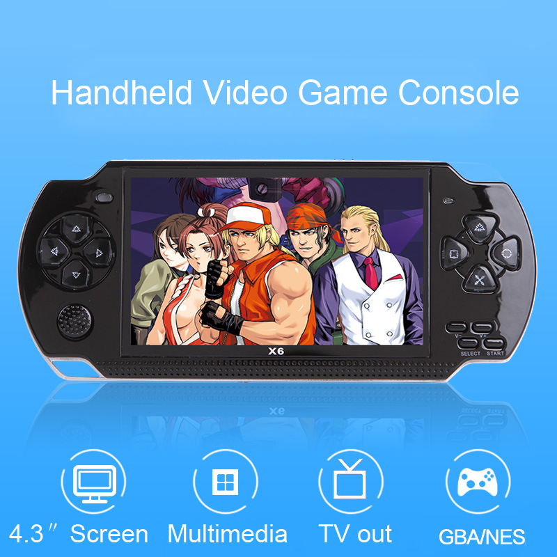 Video Game Player X6 for PSP Game Console Handheld Retro Game 4.3 inch Screen Mp4 Player Game Player Support Camera,Video,E-bookVideo Game Player X6 for PSP Game Console Handheld Retro Game 4.3 inch Screen Mp4 Player Game Player Support Camera,Video,E-book