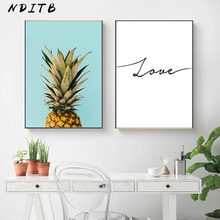 Pineapple Minimalist Canvas Painting Wall Art Poster Love Print Nordic Style Decorative Picture Modern Living Room Decoration