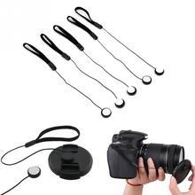 5 pièces 23cm universel pour DSLR objectif couvercle capuchon support gardien sangle chaîne laisse corde pour Canon caméra accessoires