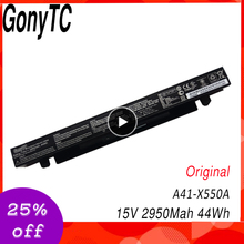 GONYTC 15V 44Wh 2950mAh Original A41-X550a Battery For Asus A41-X550 X550C A450 A450C A450L A450LB Li-ion Laptop Battery
