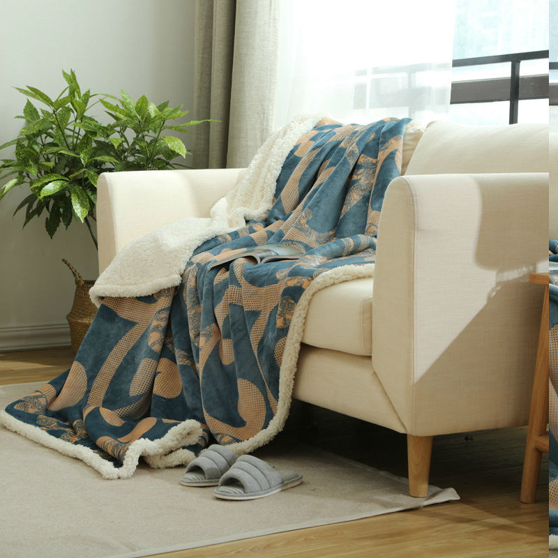 베버 양털 담요 따뜻한 소프트 Raschel 담요 더블 레이어 소파 베드에 던져 평면 Plaids Bedspreads 홈 섬유 인쇄