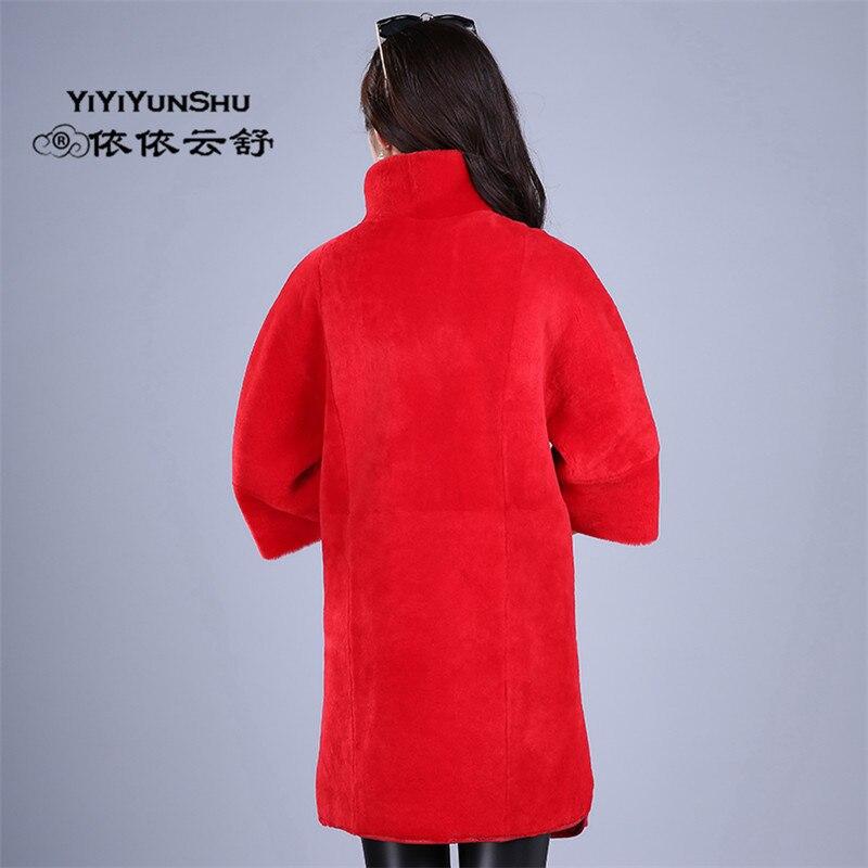 Naturelle En Importé Double Customizable Laine Survêtement Yiyiyunshu Cuir Manteau Moutons Mérinos Fourrure Porter Des Véritable Hiver Femmes Épaisse De côté Réel gWzq4pf