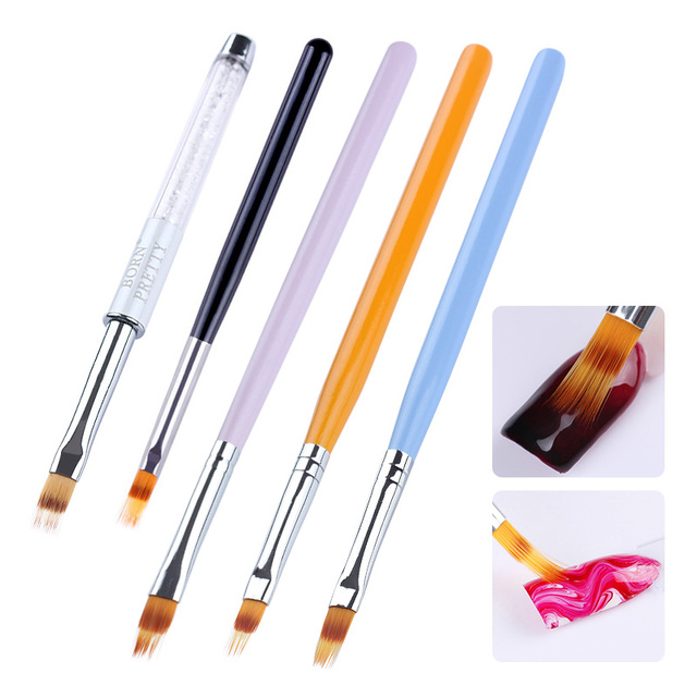 pincel con pintura. 1 unid uv gel pincel de degradado color dibujo pintura pluma rhinestone mango con s