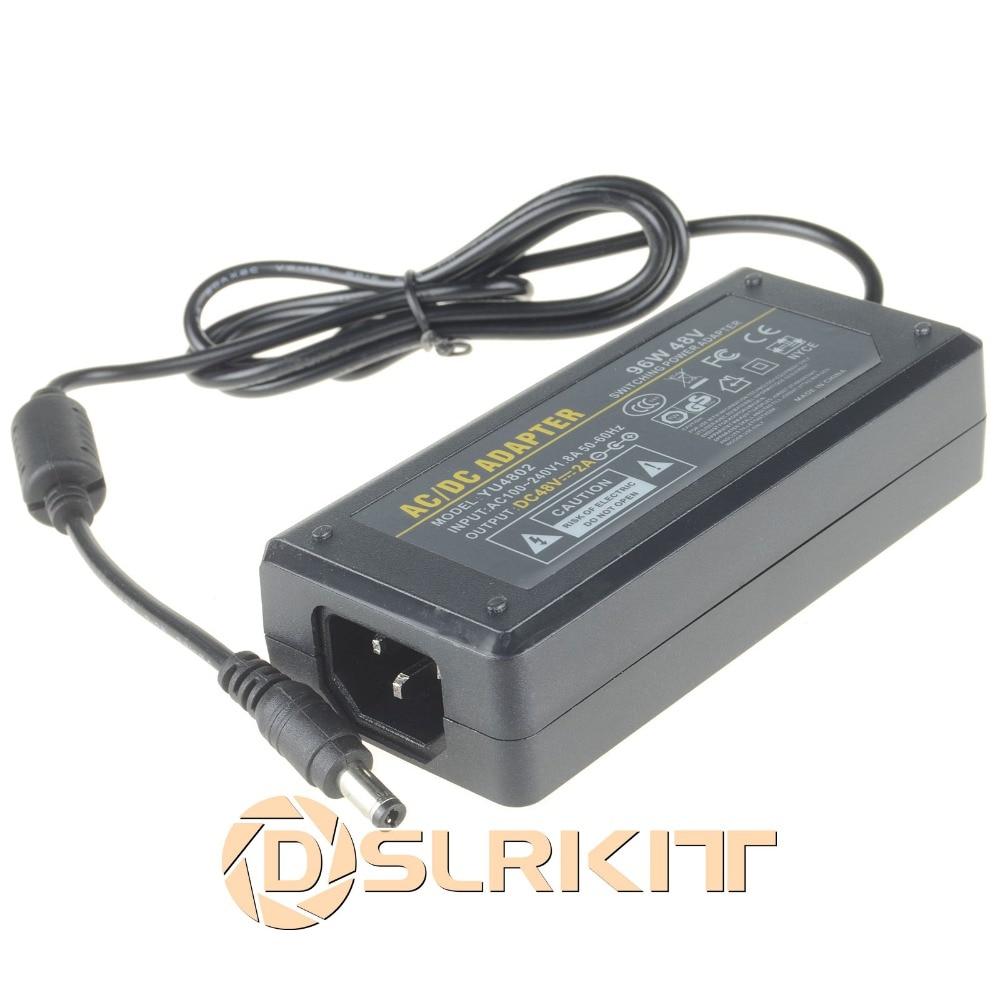 AC 100-240V to DC 48V 2A 96W Power Adapter 5.5mm x 2.5/2.1mm for PoE Switch