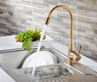 2014 Hot Classic Fashion Gold Lever Kitchen Tap