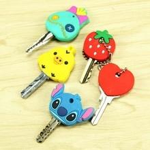 4 шт мультяшный аниме милый чехол для ключей кошелек с цепочкой силиконовый чехол для ключей милый защитный крючок на кошелек