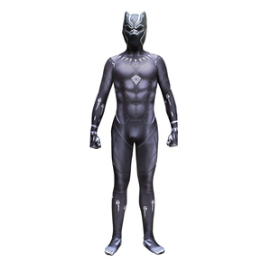 Image 2 - Black Panther TChalla Wakanda King Cosplay Costume Jumpsuit Fancy Zentai Mask