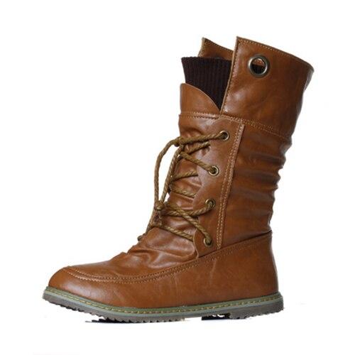 Mujer Nieve Black dark La Botas Abdb Motocicleta Las brown Otoño Brown Moda Martin Tobillo Zapatos De Cuero Mujeres Para Invierno avwqAOv