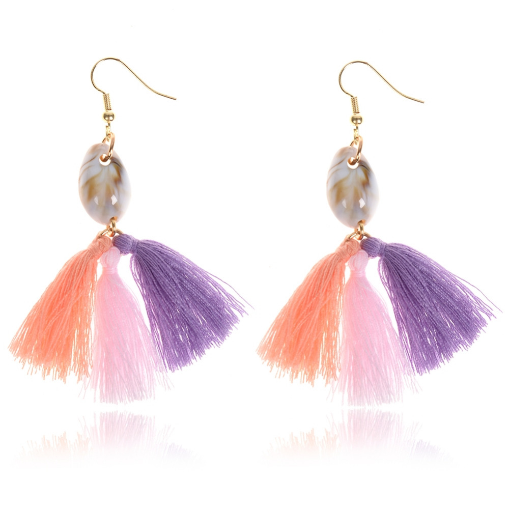 1 Pair Vintage Gothic Multicolor Tassel Earrings For Women Temperament Drop Earrings Bohemia Ear Jewelry Party Accessories 2 S