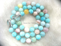 morganite amazonite round 8mm beads AA necklaces 18 nature FPPJ