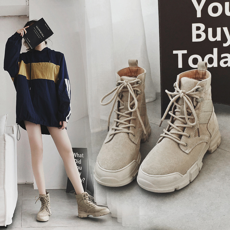 MYCOLEN Woman Short Boots Warm Spring/Autumn Women Boots Ankle Boots Thick Heel Fashion Motorcycle Shoes Cuissarde Femme