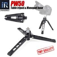 PW50 mini tripod Universal Mini Three Feet Support Tripod Stand Base Monopod Stand for unipod Ball head with 3/8 screw adapter