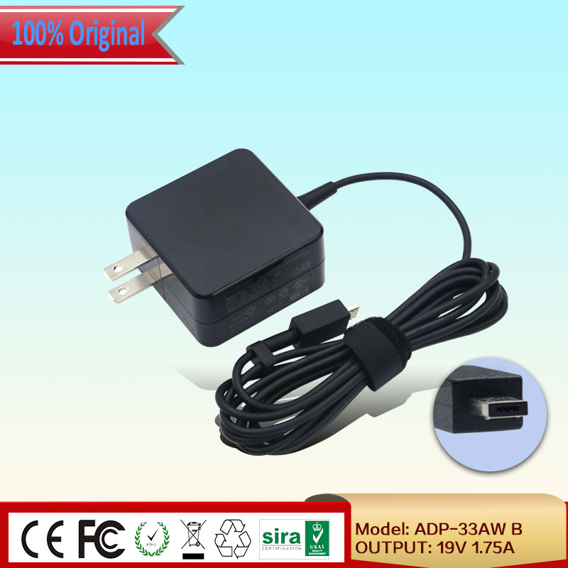 Brand new 19V 1.75A 33W micro usb Laptop AC Charger For ASUS EEEBOOK SERIES E202SA E202SA3050 11.6 INCH NOTEBOOK ADP-33AW B Price $15.89