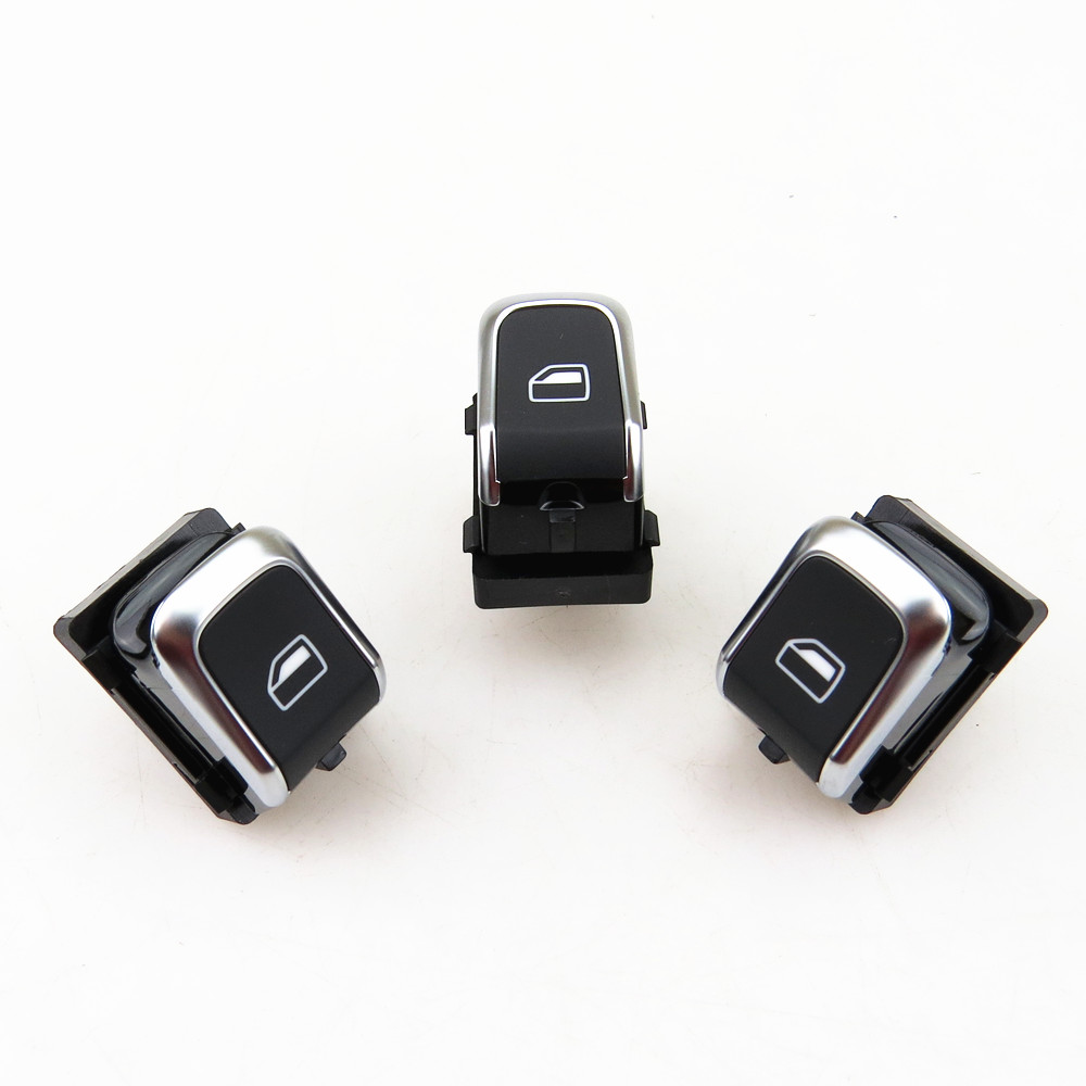 Chrome Mirror Knob Window Electronic Control Switch Kit For AUDI A6 S6 A7 RS6 C7
