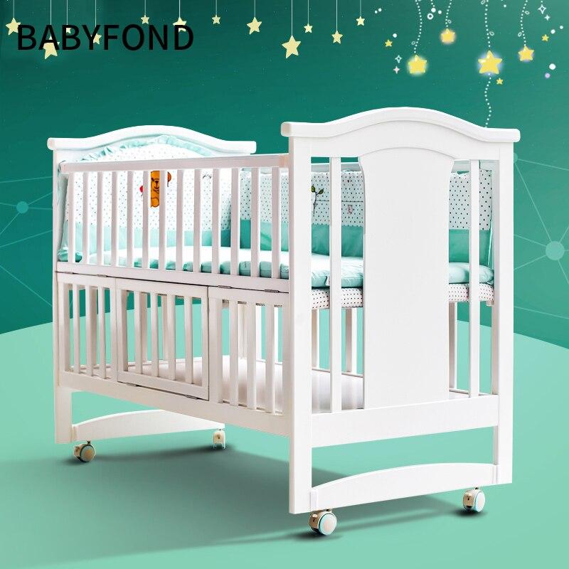 Berceaux bébé multifonctionnel solide berceau lit pliable moustiquaire rouleau bébé lit nouveau-né