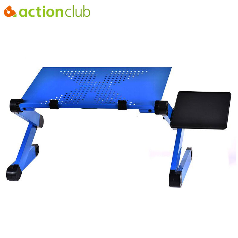 Actionclub Portable Foldable 360 Degree Adjustable Laptop Desk Computer Table Stand Tray For Sofa Bed Laptop Desk With Mouse Pad ...
