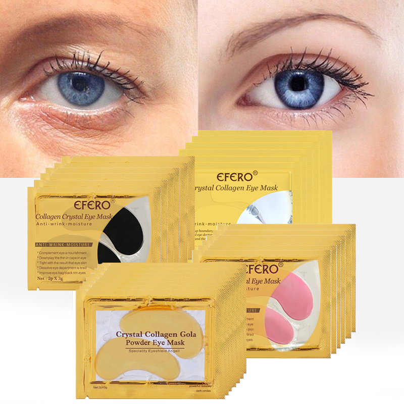 Gold Eye Masks Crystal Collagen Eye Mask Gel  Patches for Eye Ageless Anti-Wrinkle Remove Black Eye Care Face Masks 8/10/15Pairs