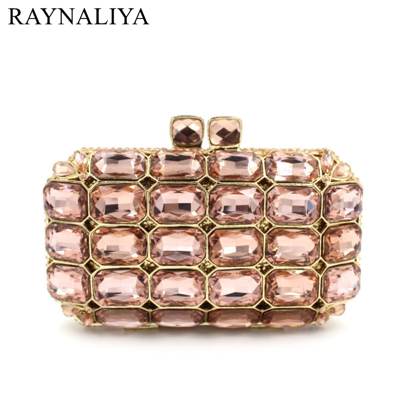 Women Evening Pearl Beaded Bags Ladies Wedding Party Bag Crystal Gold Clutch Diamonds Purses Wallets For Bride SMYZH-E0063