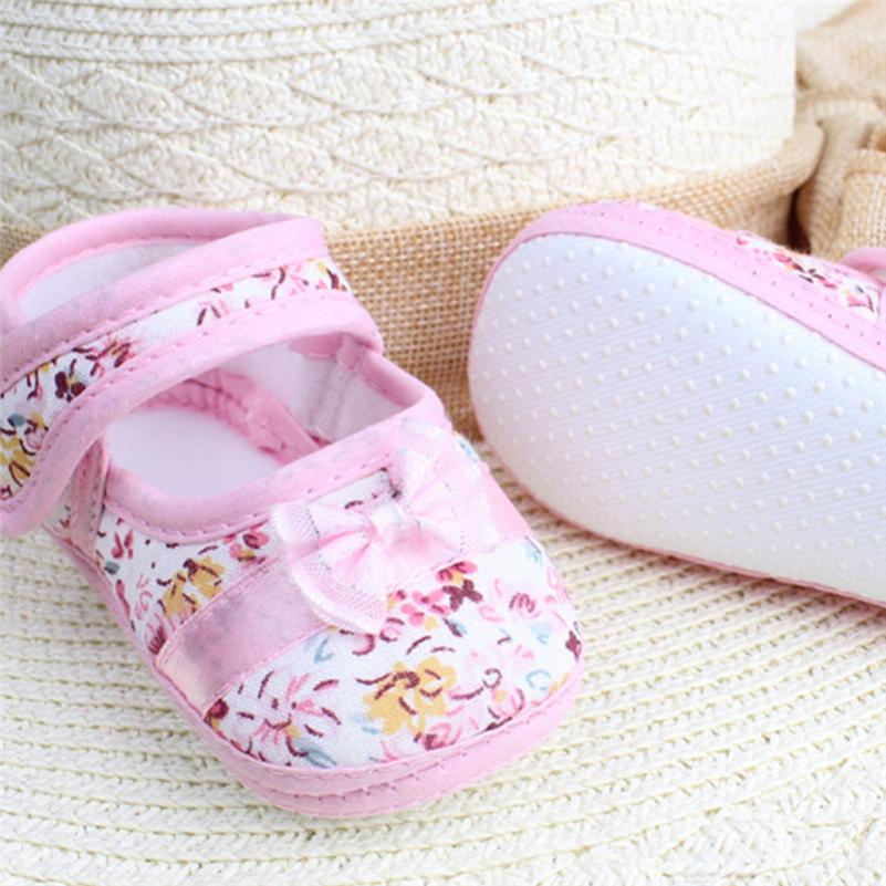 Toddler Baby Girl Bow-knot Canvas Shoes Sneaker Anti-slip Soft Sole Shoes