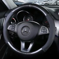 Car Steering wheels Cover 38cm 15 For Mercedes Benz S B200 R350 SLK300 A180 C200 E260 GLC300 GLK GLS GLE350 ML GL Class vito