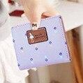 MM012  Women wallets10*9*1.5cm news 2016 high grade Mini slim two fold wallet student Miss wallet Korean cute little purse