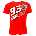 New locomotive motorcycle  Marc Marquez 93 Ant Signature  Moto GP T-shirt Red  2017