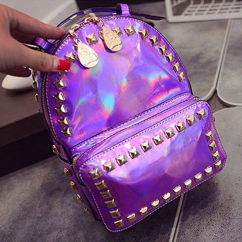 2017 Mochila Masculina backpack Women Silver Hologram Laser Backpack men's Bag leather Holographic Backpack 2017 newly fashion tiara hairwear headpiece plastic flower hairdress wedding hair accessories head chain bridal hairwear ma064