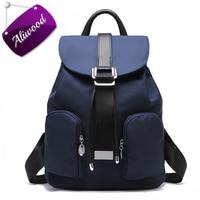 Aliwood Women S Backpacks High Quality Waterproof Nylon Leather Backpack Elegant Designer Rucksack School Bags Travel