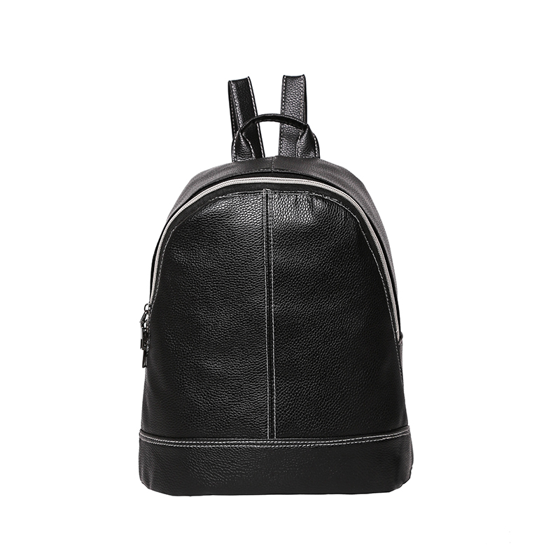 Preppy Style Women Backpack Fashion Designer PU Leather Backpacks Zipper  Travel School Bags for Teenager Girls Shoulder Bag 2018 79e2e2c7e7e3d