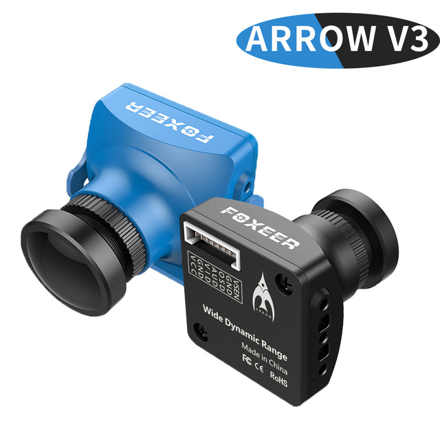 FOXEER Arrow V3 2.5mm 600TVL HAD II CCD PAL/NTSC IR Block Mini  FPV Camera Built-in OSD MIC