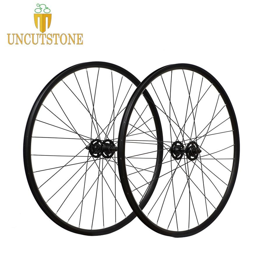 Fixed Gear bike wheel rim 16mm 20mm aluminum alloy Retro wheel Front 32H hub flip flop Vintage fixie bike wheel rim