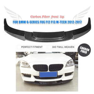 Carbon Fiber Front Bumper Lip Chin Spoiler for BMW 6 Series F06 F12 F13 M-Sport M-Tech Bumper 2012-2017
