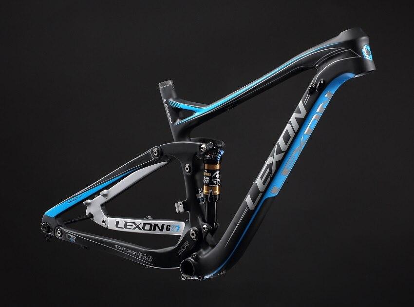 2017 fibra De Carbono TORAY LEXON dupla suspensão frame/XC MTB quadro de suspensão/27.5er MTB de carbono quadro de bicicleta/ QUADRO DA BICICLETA COM CHOQUE