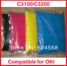 High quality color toner powder compatible for OKI C3100/C3200/3100/3200 Free shipping