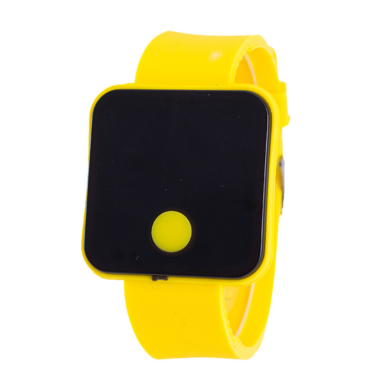 Ultra-thin Screen Wristwatches Children Electronic Watches Men Silicone LED Watch LXH