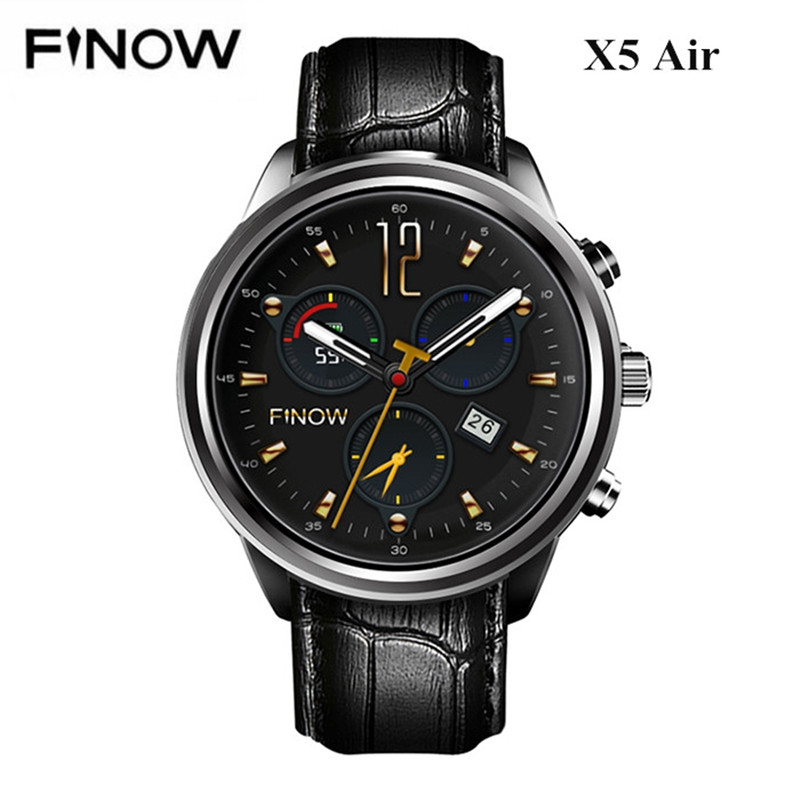 Finow X5 Air Smart Watch 2GB RAM 16GB ROM MTK6580 GPS WIFI Wearable Devices Bluetooth Android 5.1 3G Smartwatch For Android IOS slimy s3 smart watch mtk6580 1gb 16gb 3g gps wifi 550mah smartwatch call reminder android 5 1 wearable devices for women men