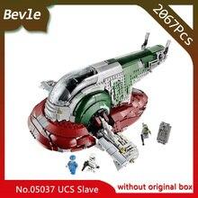 Bevle Store LEPIN 05037 2067pcs Star Wars SeriesUCS Slave I Slave NO.1 Model Building Blocks Set Bricks For Children Toys 75060