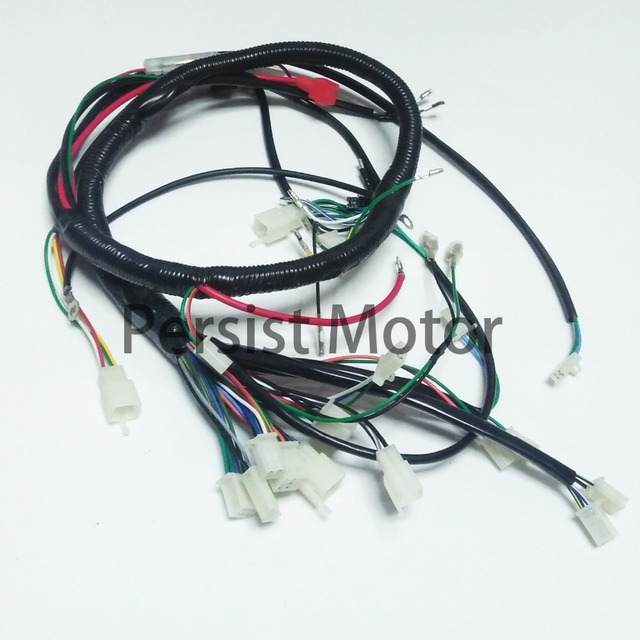 water cooled 250cc chinese atv wiring harness electric start wire loom wiring harness 200cc 250cc 300cc atv quad bike buggy go kart-in ... 250cc 300cc wiring harness