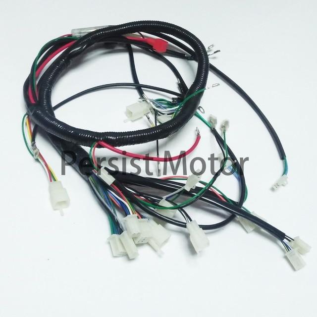 electric start wire loom wiring harness 200cc 250cc 300cc atv quad bike buggy go kart-in ... 250cc 300cc wiring harness