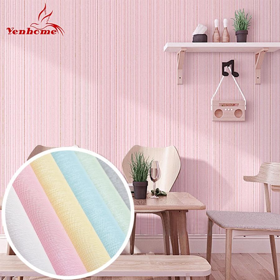 Kitchen wallpaper stripes - 60cmx3m Vinyl Waterproof Furniture Renovation Wall Stickers Pvc Striped Self Adhesive Wallpaper For Bedroom Living Room Kitchen