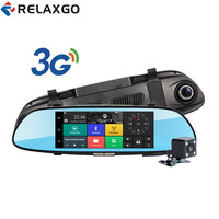 New 3G Android 7 Car DVR Rearview Mirror Video Recorder Full HD 1080P Car Camera GPS