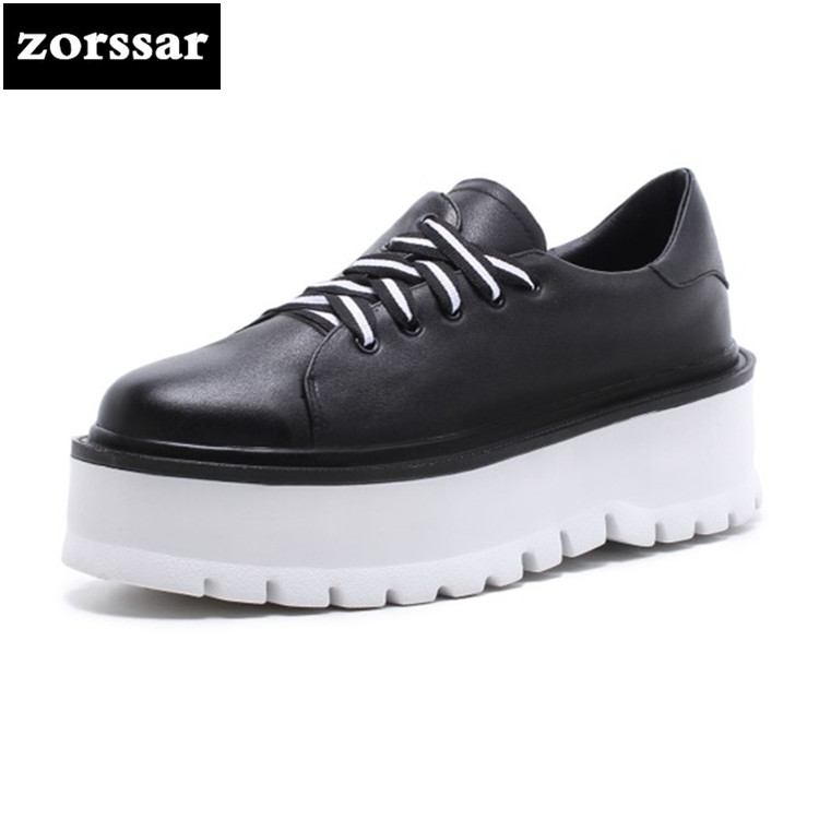 {Zorssar} Brand 2018 Spring New fashion Women sneakers Casual Flats shoes Comfortable flat Shoes Leather womens platform shoes minika new arrival 2017 casual shoes women multicolor optional comfortable women flat shoes fashion patchwork platform shoes