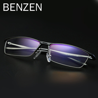 BENZEN Computer Glasses Anti Blue Rays Reading Glasses Half Frame Glasses For Computer TV Gaming Goggles With Case 5118