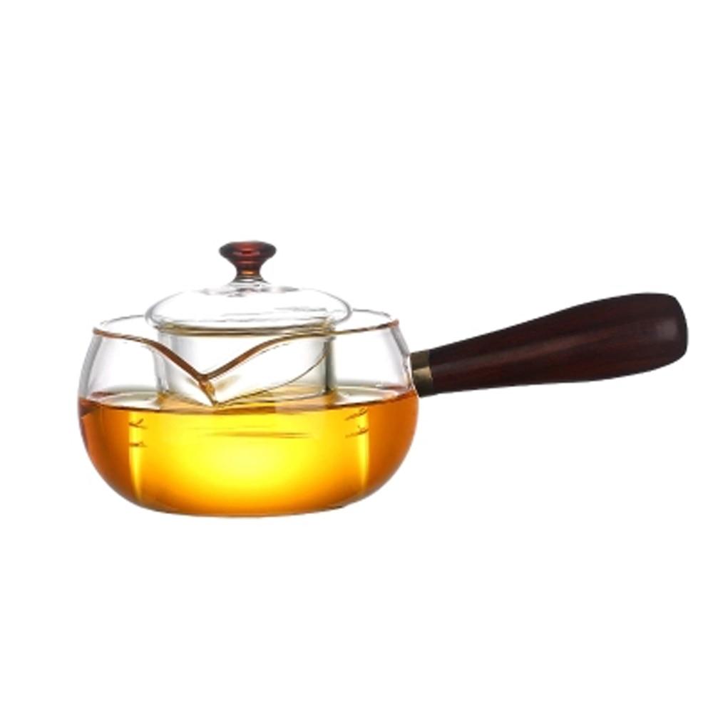 300   500ml Regimen Steaming kettle Heatable Borosilicate <font><b>Glass</b></font> Teapot with Handle Herbal Flower Tea pot Kettle Health Life
