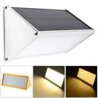 Waterproof 56 LED Warm Light Aluminium Alloy Solar Power PIR Motion Sensor Wall Light With 4