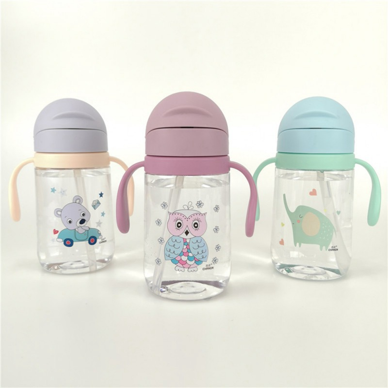 Baby Cup Infant Owl Elephant Sippy Cups For Babies Toddler Training Drinking Bottles Children Learn Drinking With Handle 420ml