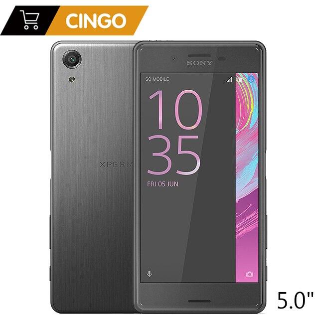 Оригинальный sony Xperia X Производительность двойной F8132 двойной слот для sim карты LTE ram 3 ГБ rom 64 ГБ Android четырехъядерный 5,0