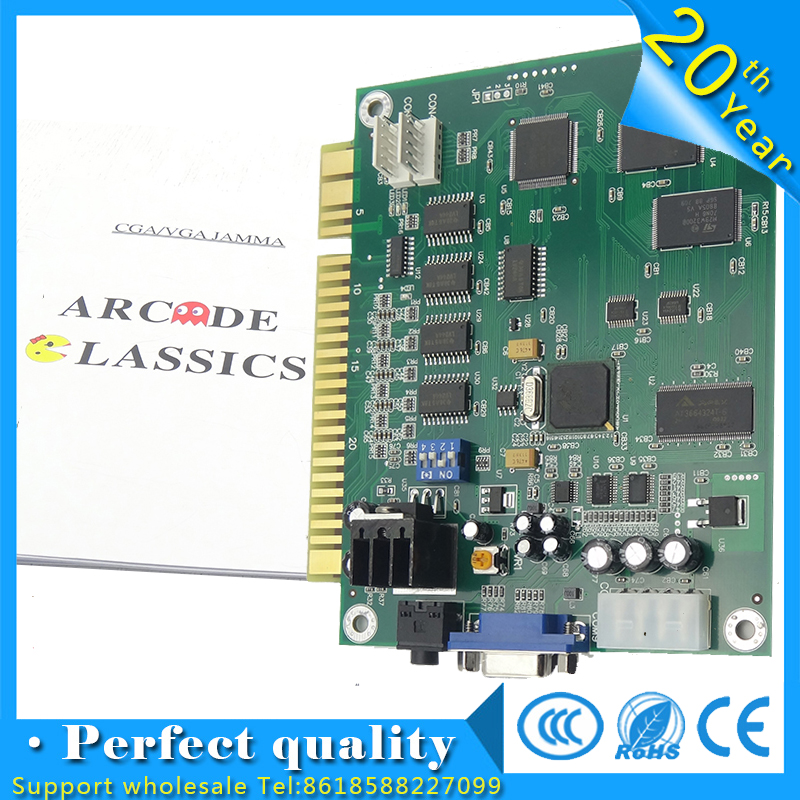 10 pcs of 60 in 1 Arcade Game PCB Jamma Multi Game Pcb For Arcade Game Machine Arcade Game Board wms 550 casino game pcb gambling board 8 lines must use touch screen play the game support bill accepter for slot game machine