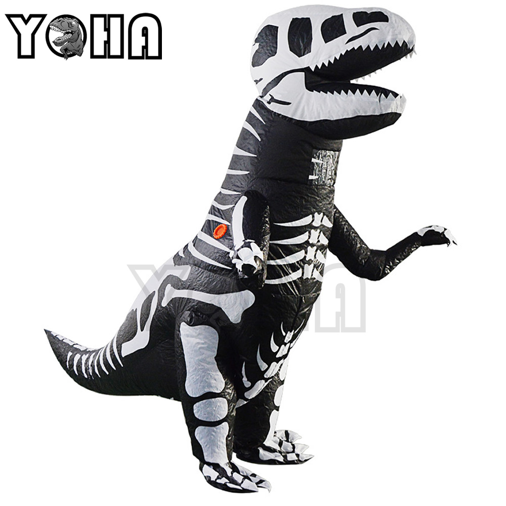 Halloween Party Adult T-REX Costume Jurassic World Park Blowup Dinosaur Cosplay Animal Inflatable Costume Party Costume